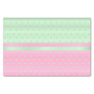 Pink and Pastel Green Polka Dots Tissue Paper