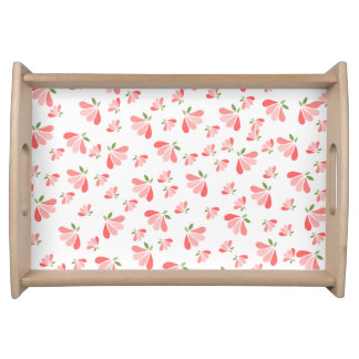 Pink and Peach Petals Serving Tray