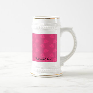 Pink and pink christmas bells beer steins