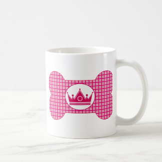 Pink and Pink with Hot Pink Crown.png Basic White Mug