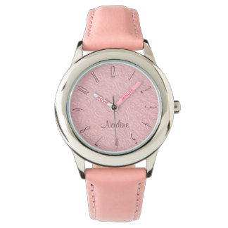 Pink and plum girls wristwatches
