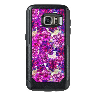 Pink And Purple Abstract Flowers Pattern OtterBox Samsung Galaxy S7 Case