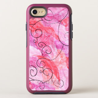 pink and purple background phone case