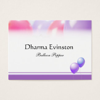 Pink and Purple Balloons Business Card