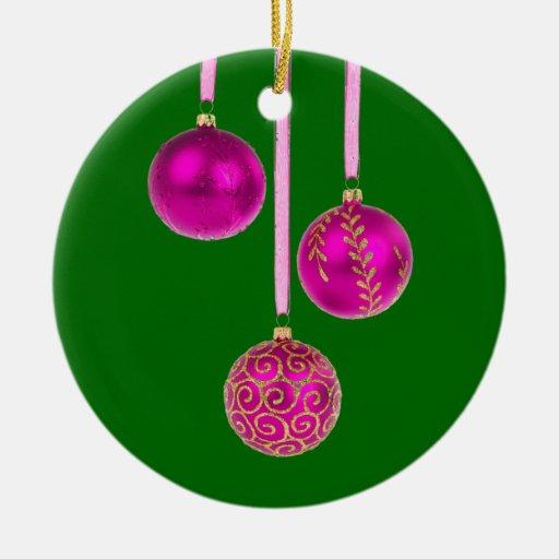 Purple Christmas Tree Baubles Uk : Pink and purple baubles ornament zazzle