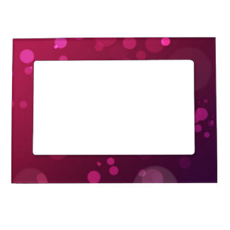 Pink and Purple Bubbles Photo Frame Magnet