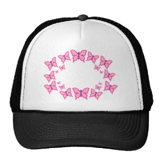 Pink and Purple Butterflies Mesh Hat