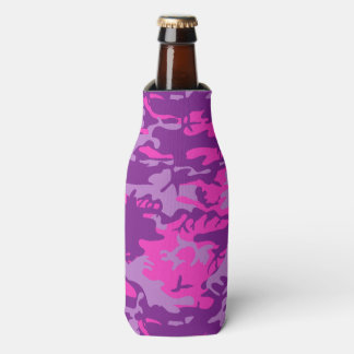 Pink and Purple Camo Bottle Cooler