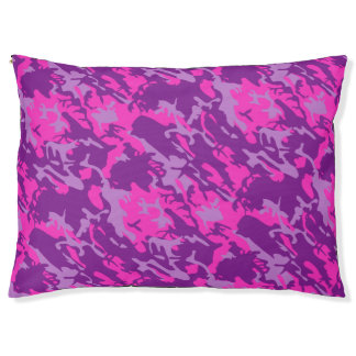 Pink and Purple  Camo Pet Bed
