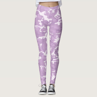 Pink and Purple Camo Tights