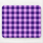Pink and Purple Check Mousepad