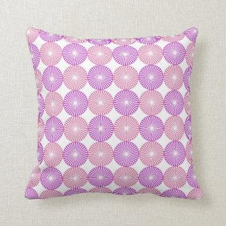 Pink and purple circles pattern cushion