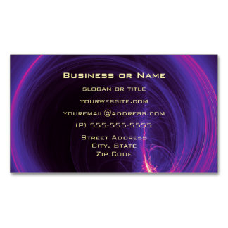 Pink and Purple Circular Abstract Design Magnetic Business Cards