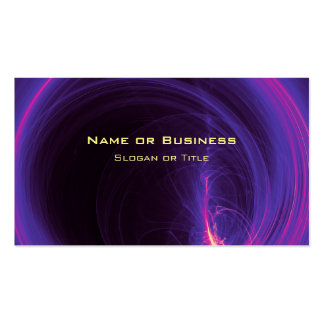 Pink and Purple Circular Abstract Design Pack Of Standard Business Cards