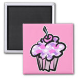 pink and purple clouds cupcake fridge magnets