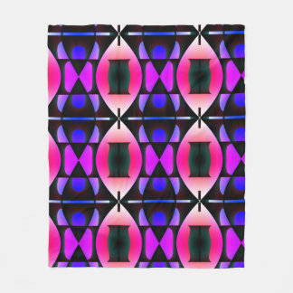 Pink and Purple Contemporary Pattern Fleece Blanket