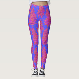 Pink and Purple Crazy Paisley Leggings