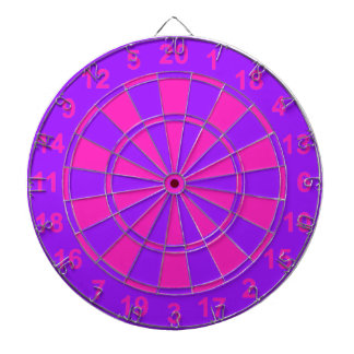 Pink and Purple Dartboard