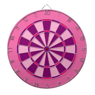 Pink and Purple Dartboard