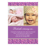 Pink and Purple Diva Theme Party Invitation