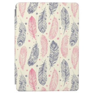 Pink And Purple Ethnic Feather Pattern iPad Air Cover