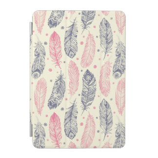 Pink And Purple Ethnic Feather Pattern iPad Mini Cover