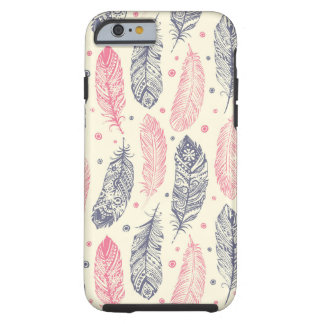 Pink And Purple Ethnic Feather Pattern Tough iPhone 6 Case
