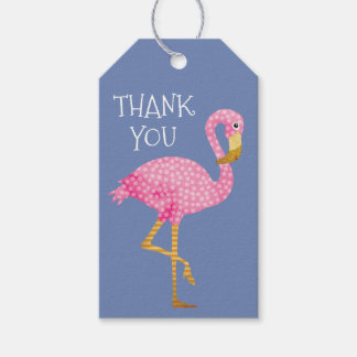 Pink and Purple Flamingo Thank You Gift Tags