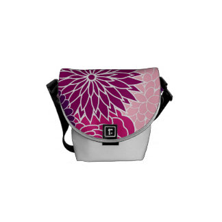 Pink and Purple Floral Commuter Bag