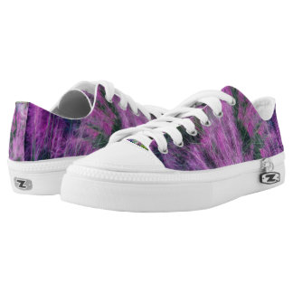 Pink and Purple Floral Low Top Shoes Printed Shoes