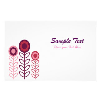 Pink And Purple Floral Stationery WallPaper