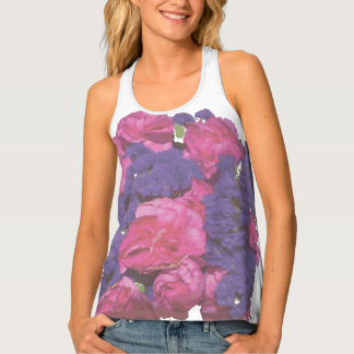 Pink and Purple Floral Tank Top