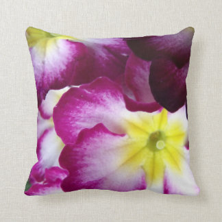 Pink And Purple Flower Design Cushion