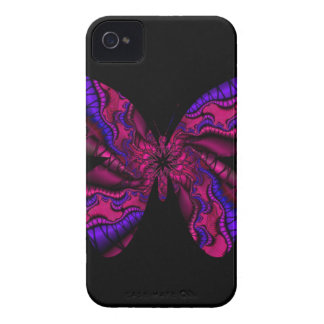 pink and purple fractal butterfly Case-Mate iPhone 4 cases