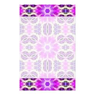 Pink and Purple Fractal Mandala Stationery