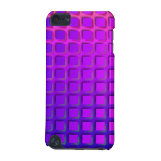 Pink and Purple Funky Squares Pattern iPod Touch 5G Covers