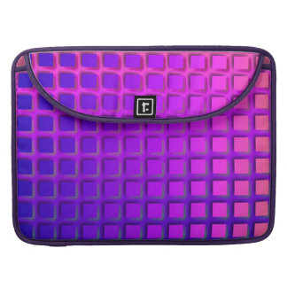 Pink and Purple Funky Squares Pattern Sleeve For MacBooks