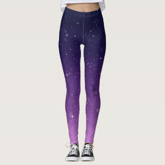 Pink and Purple Galaxy Leggings