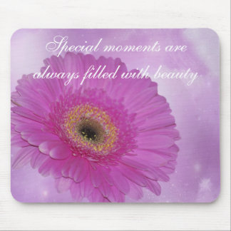 Pink and purple gerber daisy mouse pad