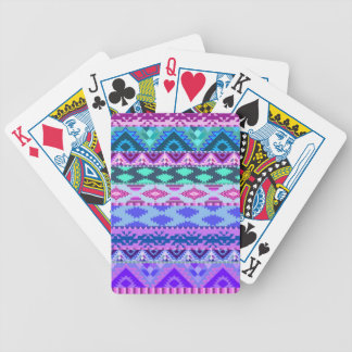 Pink and Purple Girly Aztec Poker Deck