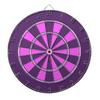 Pink and Purple Girly Dartboard