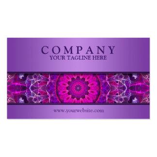 Pink and Purple glowing mandala -purple modern Pack Of Standard Business Cards