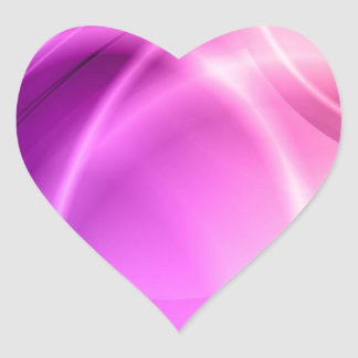 Pink and Purple Heart Sticker
