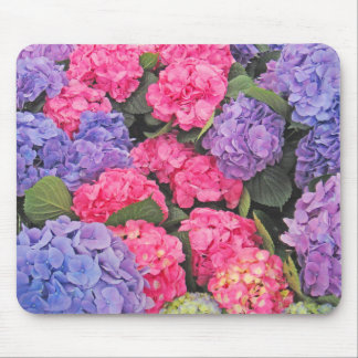 Pink and Purple Hydrangeas Flowers 2 - Mouse Mat