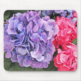 Pink and Purple Hydrangeas Flowers - Mouse Mat