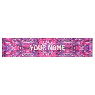 Pink And Purple  Kaleidoscope Desk Nameplate