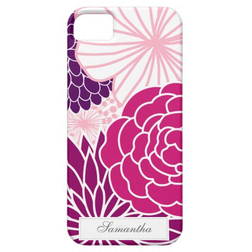 Pink and Purple Mod Floral iPhone 5 Covers