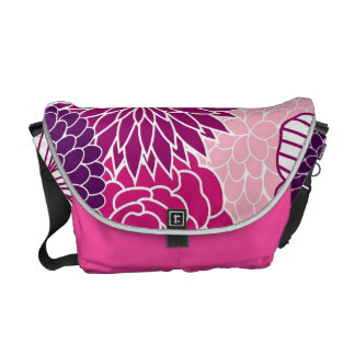 Pink and Purple Mod Floral Courier Bags