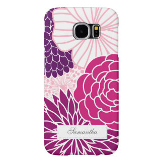 Pink and Purple Mod Floral Samsung Galaxy S6 Cases