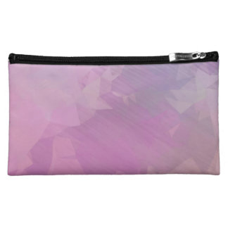 Pink and Purple Oil Painting Cosmetic Bag
